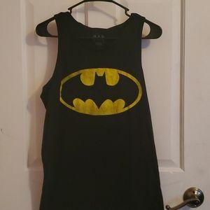 Black tank top with batman symbol